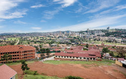 View from the above of the Capital city Kampala in Uganda, Afric Stock Photography