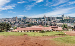 View from the above of the Capital city Kampala in Uganda, Afric Royalty Free Stock Images
