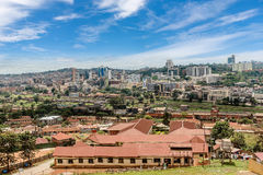 View from the above of the Capital city Kampala in Uganda, Afric Stock Images