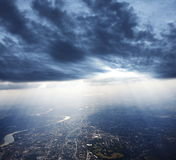 View above city Stock Photography