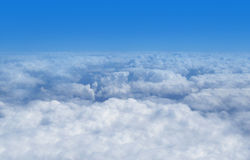 View above the clouds. A view above the clouds from an airship Royalty Free Stock Images