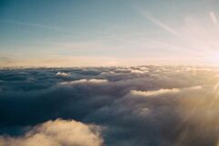 View Above the Clouds Royalty Free Stock Image