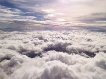 View above a clouds. On the airplane Stock Images