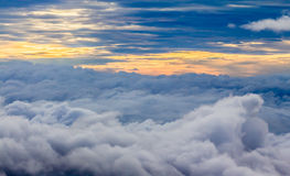 View Above the Clouds Royalty Free Stock Photography