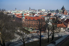 View from above of Cracow Royalty Free Stock Photo