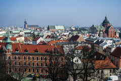 View from above of Cracow Royalty Free Stock Images