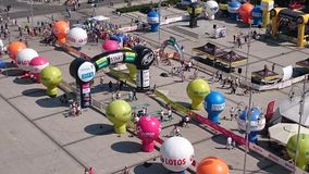 View from above. Cycling Race Tour De Pologne Czstochowa City Stock Photo