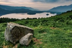 View from above Derwent Water stock photos