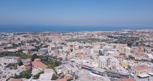 View from above drone. Of the city of Paphos stock video footage