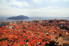 View from above Dubrovnik, Croatia Royalty Free Stock Image