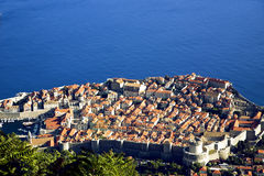 View from above on Dubrovnik Old City Royalty Free Stock Image