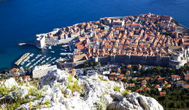 View from above on Dubrovnik Old City Royalty Free Stock Photos