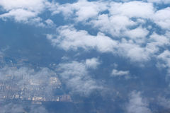 View above the earth at the clouds Stock Photos