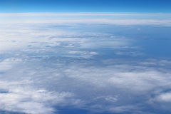 View above the earth at the clouds Stock Photography