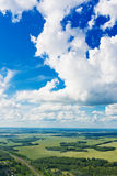View above the earth on landmark down. Stock Images