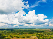 View above the earth on landmark down. Royalty Free Stock Image