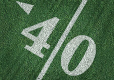 View From Above of Forty Yard Line on American Football Royalty Free Stock Photography