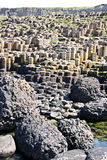 View from above of the Giants Causeway and Cliffs, Northern Ireland Stock Photo