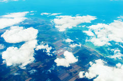 View above ground. The view above a ground Royalty Free Stock Photo