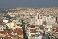 View from above on Istanbul, morning. Turkey Stock Photo