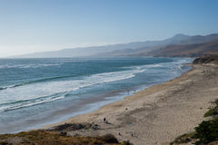 View from above of Jalama Beach near Lompoc Royalty Free Stock Image