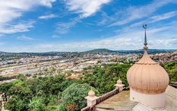 View from the above  Kibuli mosque of the Capital city Kampala i Royalty Free Stock Photos