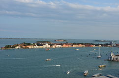 La giudecca - Venice - Italy. View from above of La giudecca is one of the islands of Venice, northern Italy Royalty Free Stock Photography