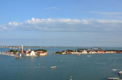 La giudecca - Venice - Italy. View from above of La giudecca is one of the islands of Venice, northern Italy Stock Image