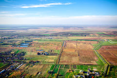 View from above at landscape Stock Image