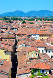 View from above of Lucca Stock Photo
