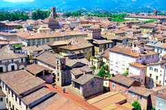 View from above of Lucca Royalty Free Stock Images