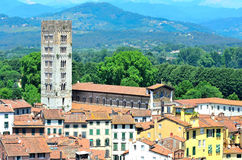 View from above of Lucca Stock Images