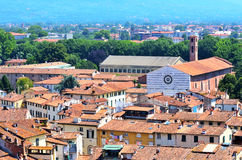 View from above of Lucca Royalty Free Stock Photos