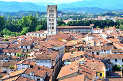 View from above of Lucca Stock Image