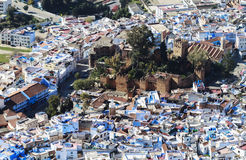 View from above of a maroccan village Stock Photos