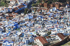 View from above of a maroccan village Stock Image