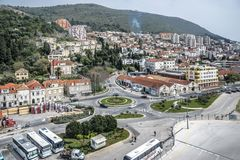 View from above of the Mediterranean city Dubrovnik stock images