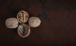 Mix of nuts on the table Stock Images