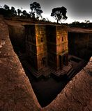Rock hewn church of Saint George, Lalibela, Ethiopia royalty free stock photos