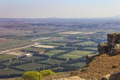 View above of Mount Bental Royalty Free Stock Photography