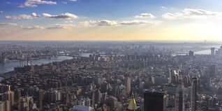 View above New York Royalty Free Stock Images