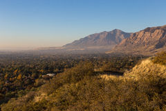 View Above Ogden Utah. View looking out over the city of Ogden Utah with the mountains in the background Stock Image