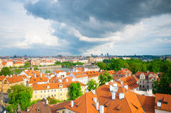 View above on old town in Prague Royalty Free Stock Photos