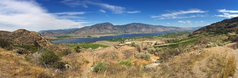 Osoyoos Lake, British Columbia. View from above of Osoyoos Lake, British Columbia stock photo