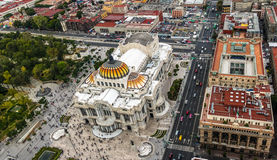 View from above of Palacio de Bellas Artes Fine Arts Palace - Mexico City, Mexico Stock Photography