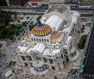 View from above of Palacio de Bellas Artes Fine Arts Palace - Mexico City, Mexico Stock Photo