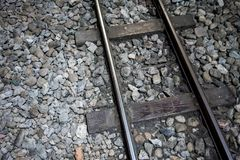 Railroad or railway track for classic train Stock Images