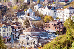 View from above of the revival city of Plovdiv Royalty Free Stock Photo