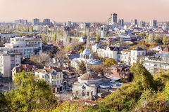 View from above of the revival city of Plovdiv Royalty Free Stock Image