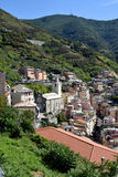 View from above of Riomaggiore, Italy Royalty Free Stock Photos